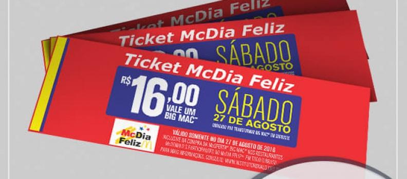 Compre o seu Tiquete Antecipado e  colabore com o McDia Feliz